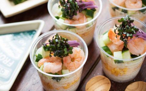 レッドキャベツ スプラウトのカップ寿司