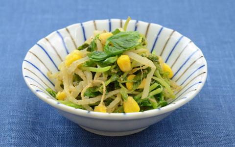 豆苗ととうもろこしの中華風サラダ