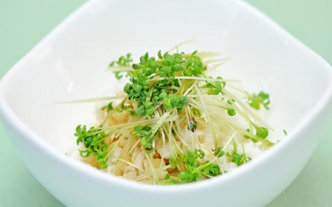 長芋とクレススプラウトのチョップサラダ
