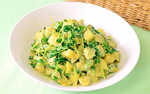 豆苗とアボカドのポテトサラダ