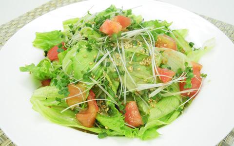 レタスとトマトの中華風サラダ