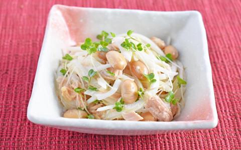 福豆とスプラウトのサラダ
