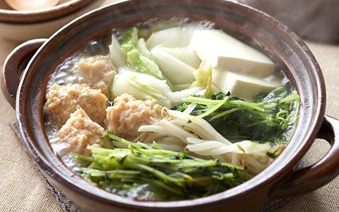 豆苗の塩ちゃんこ鍋