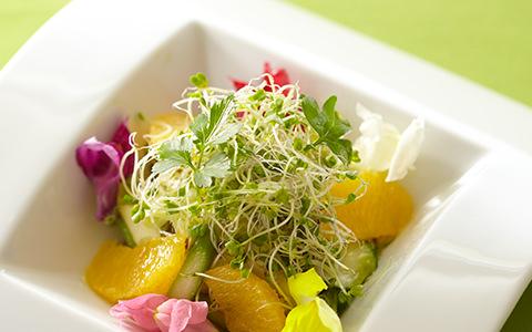 アスパラガスとオレンジの春色サラダ