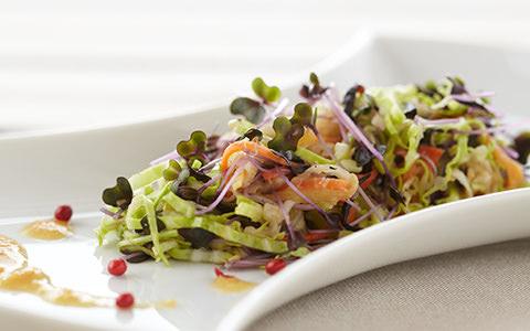 干し野菜とスプラウトのサラダ
