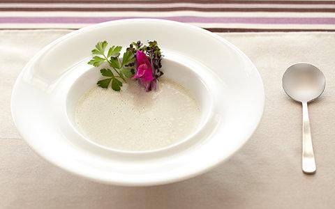 レッドキャベツスプラウトのパワーポタージュスープ