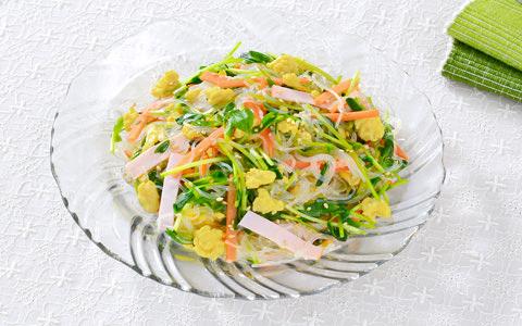 豆苗のさっぱり春雨サラダ