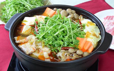 豆苗の麻辣(マーラー)火鍋