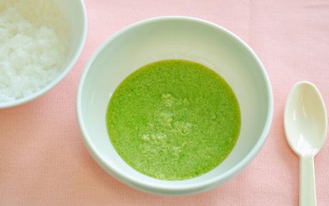 豆苗と高野豆腐のすり煮(離乳食)