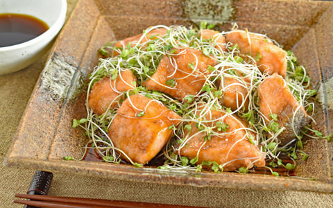 鮭とスプラウトの南蛮風サラダ