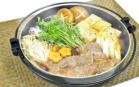 牛肉と豆苗のすき焼き