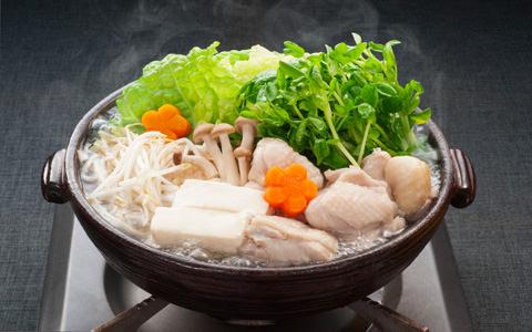 豆苗と鶏肉のうま塩ちゃんこ鍋