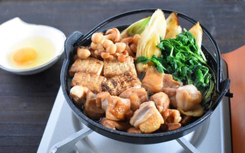 豆苗と鶏肉のすき焼き