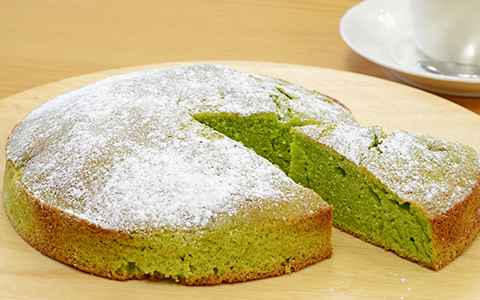 豆苗バターケーキ