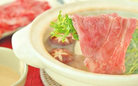 牛肉と豆苗のしゃぶしゃぶ